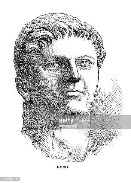 nero claudius caesar augustus germanicus - emperor stock illustrations, clip art, cartoons, & icons