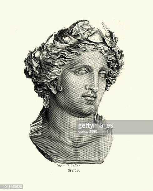 ilustrações, clipart, desenhos animados e ícones de nero, imperador romano - roman