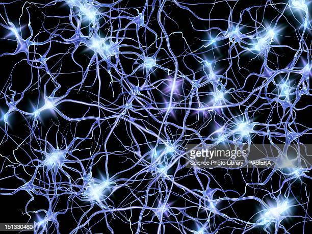 nerve cells firing, artwork - sparks stock illustrations, clip art, cartoons, & icons