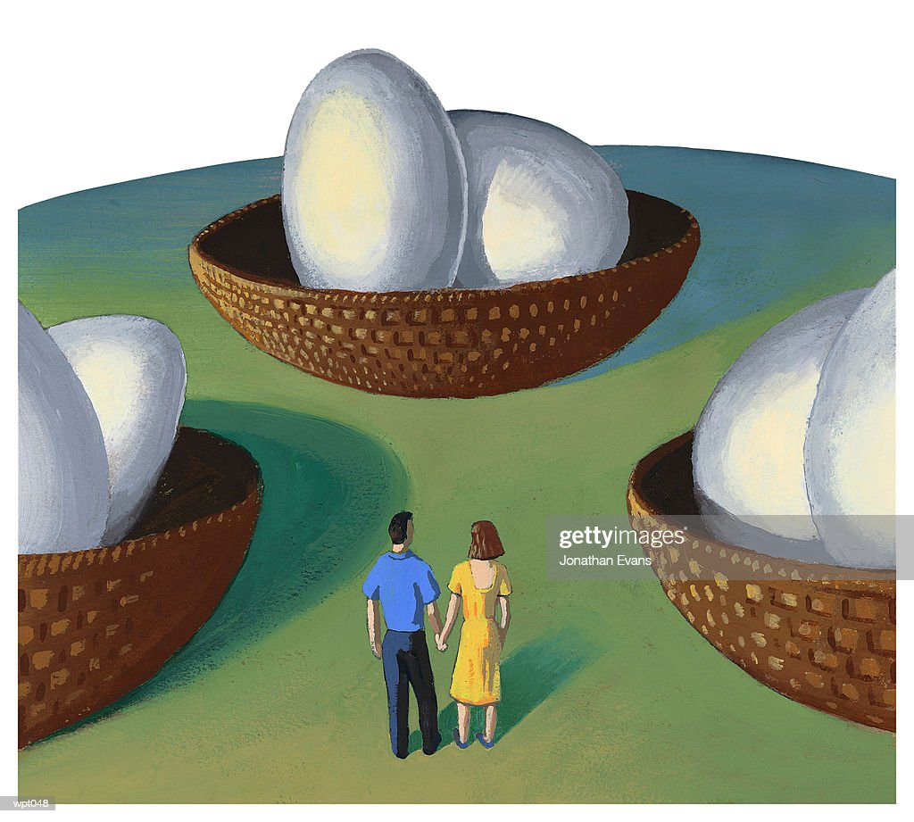 Nest Egg : Stock Illustration