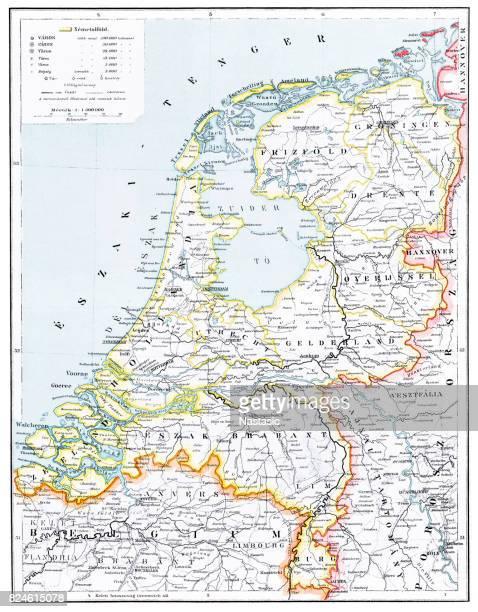 netherlands map - amsterdam stock illustrations, clip art, cartoons, & icons