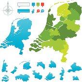 Netherlands Provincial map