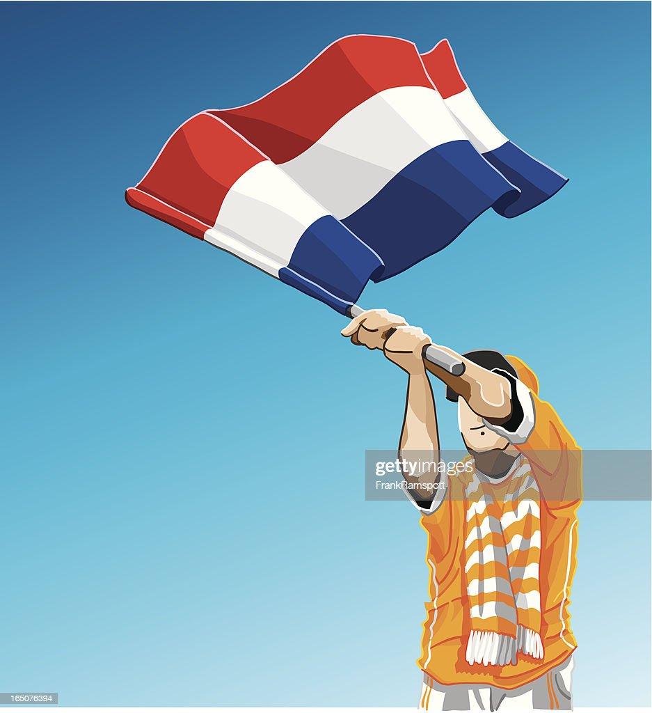 Niederlande winken Flagge Fußball-Fan : Stock-Illustration