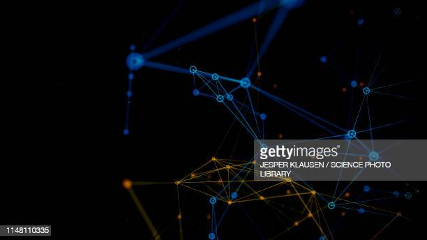 network, abstract illustration - horizontal stock illustrations