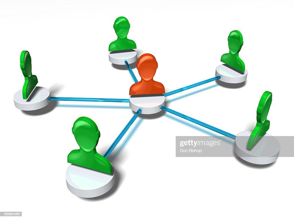 Network Chain : Ilustración de stock