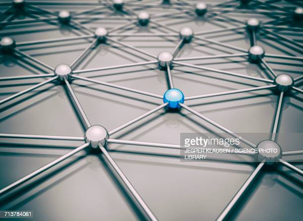 network, conceptual illustration - individuality stock illustrations
