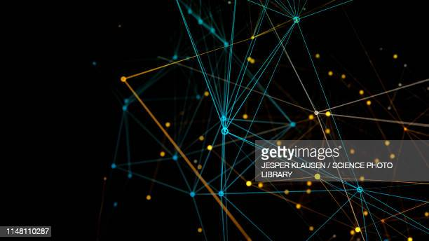 network connections, abstract illustration - digitally generated image stock illustrations