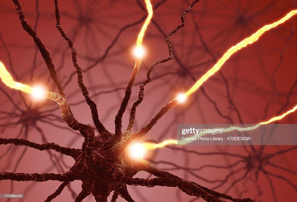 Neural network, artwork : Stock Illustration