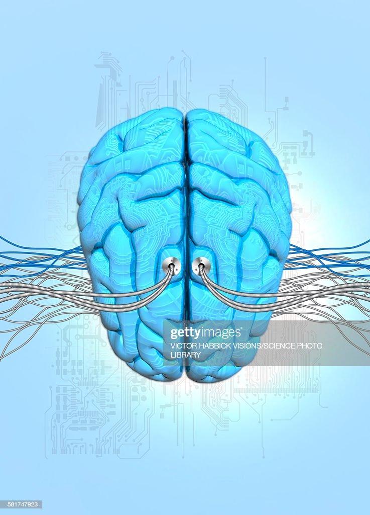 Neuromorphic engineering, illustration : Stock Illustration