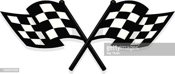 new checkered flag - checkered flag stock illustrations