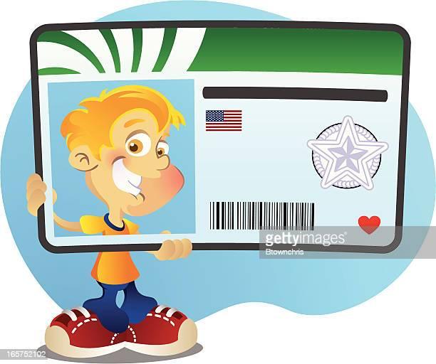 illustrations, cliparts, dessins animés et icônes de nouveau conducteur - permis de conduire