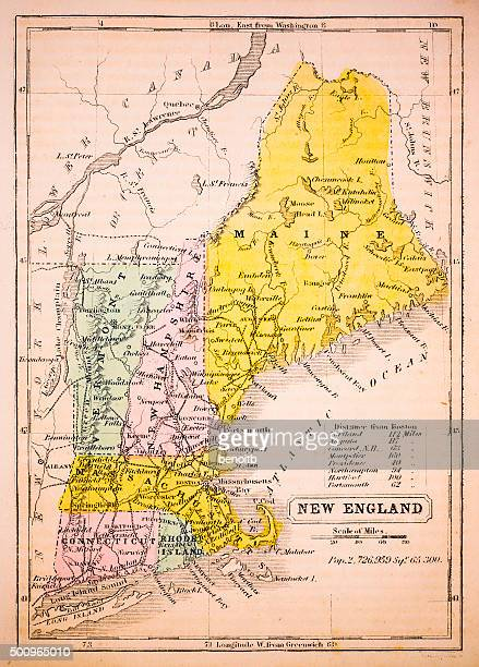 New England 1852 Map