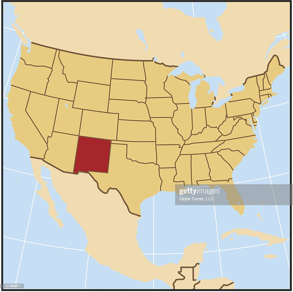 New Mexico Reference Map Vector Art   Getty Images