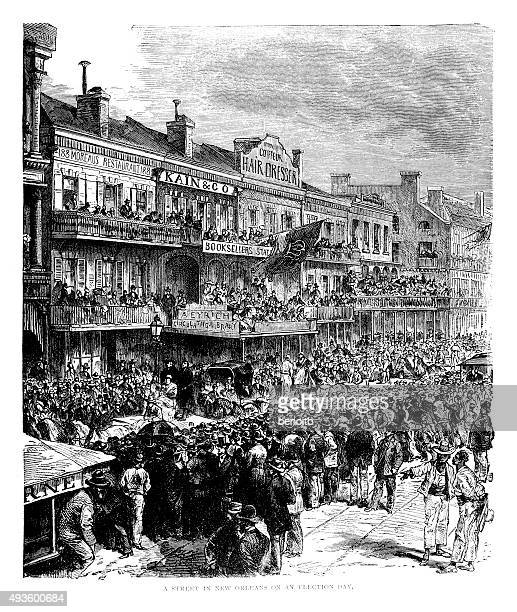 new orleans on election day - new orleans city stock illustrations