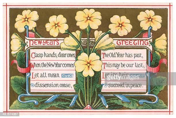 New Year greetings card, 1874