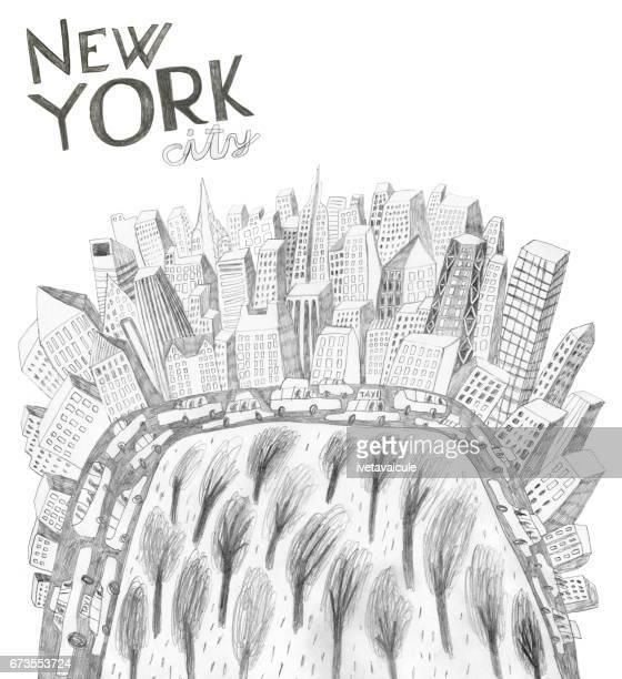 new york city usa - chrysler building stock illustrations, clip art, cartoons, & icons