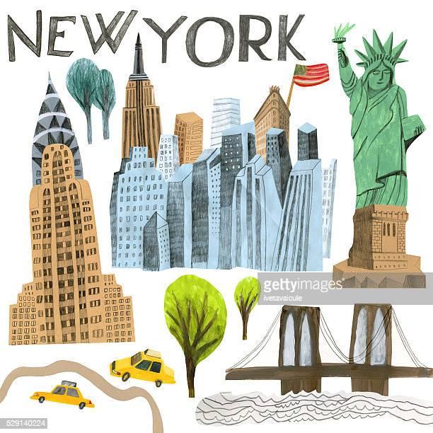 new york - brooklyn new york stock illustrations, clip art, cartoons, & icons