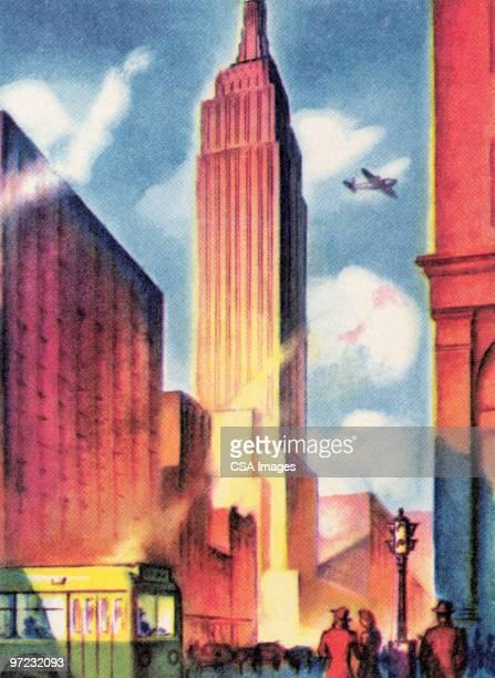 new york - tall high stock illustrations