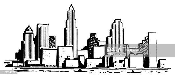 new york skyline - image stock illustrations