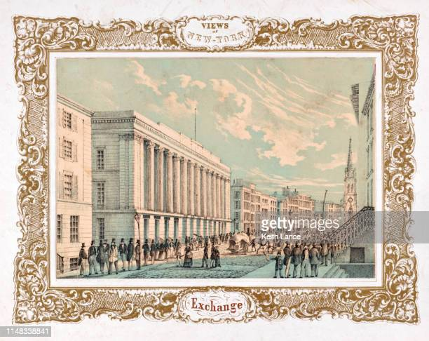 new york stock exchange - vintage stock stock illustrations