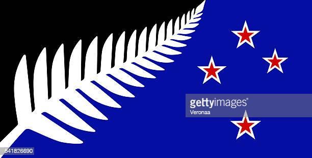 new zealand flag - insignia stock illustrations