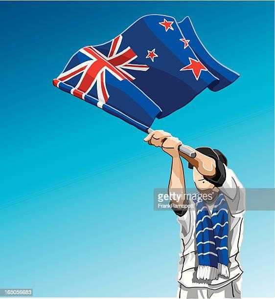 New Zealand Waving Flag Soccer Fan