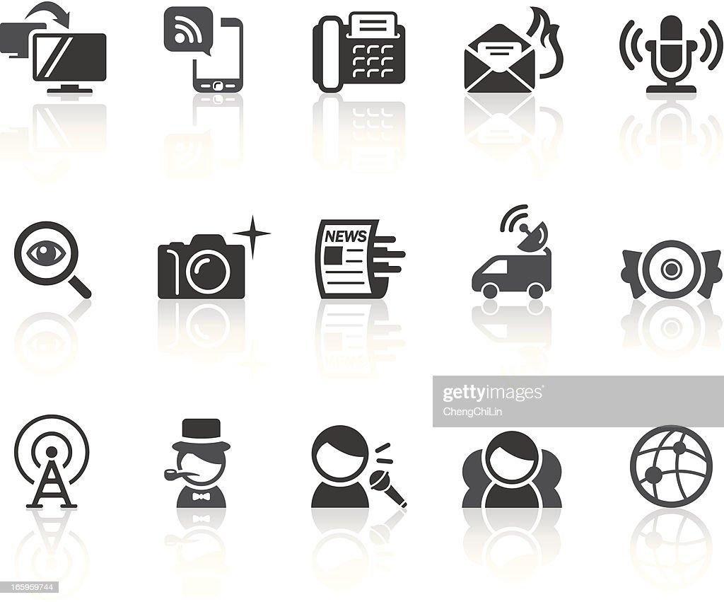 News Icons   Simple Black Series