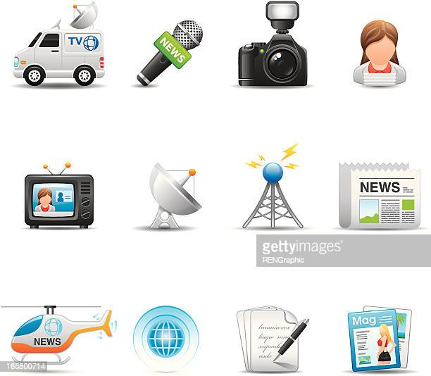 News Reporter Icon Set | Elegant Series