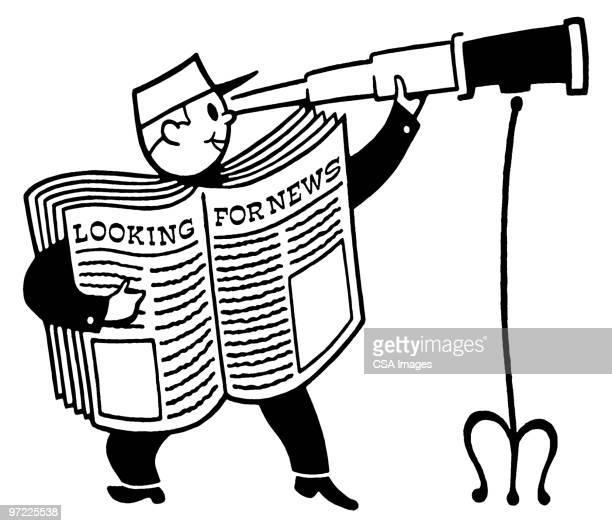 newspaper - report stock illustrations