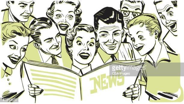 newspaper - surprise stock illustrations