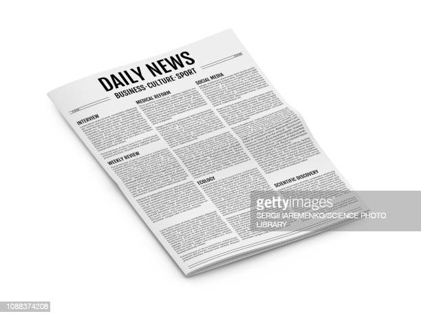 newspaper, illustration - front page stock illustrations