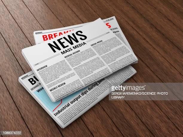 newspapers, illustration - newspaper headline stock illustrations