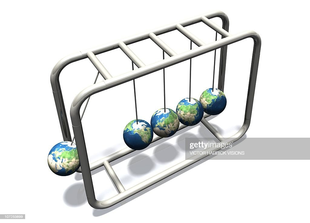 Newtonian Earth, artwork : stock illustration