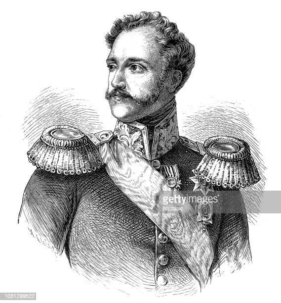 nicholas i (1796-1855), russian emperor - czar stock illustrations