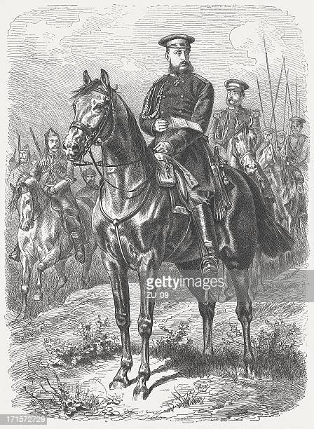 nicholas i (1796-1855), russian emperor, wood engraving, published in 1877 - military uniform stock illustrations