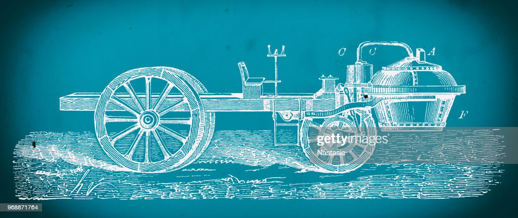Nicolas joseph cugnots steam powered car blueprint stock nicolas joseph cugnots steam powered car blueprint stock illustration malvernweather Image collections