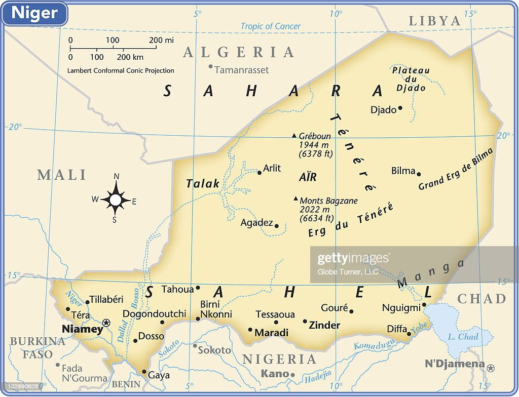 Niger Country Map Vector Art Getty Images