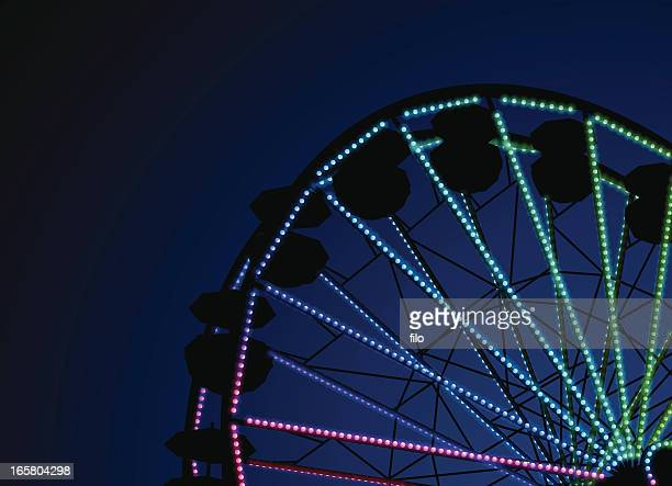 night ferris wheel - ferris wheel stock illustrations, clip art, cartoons, & icons