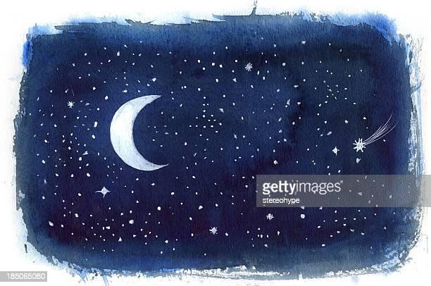 night sky - sky stock illustrations