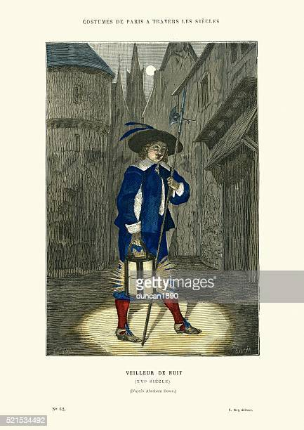 Night watchman, 16th Century, France