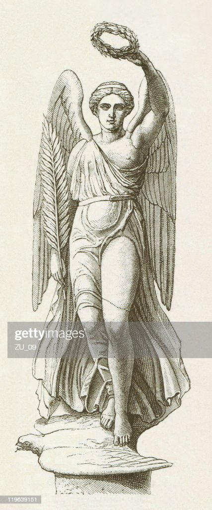 Tradicional Experto pedir disculpas  Nike Of Paionios Greece C420 Bc Wood Engraving Published 1882 High-Res  Vector Graphic - Getty Images