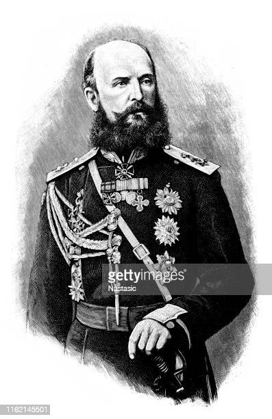 nikolai wassiljewitsch baron of kaulbars (1842-1905). general of the russian army and military writer - 1905 stock illustrations, clip art, cartoons, & icons