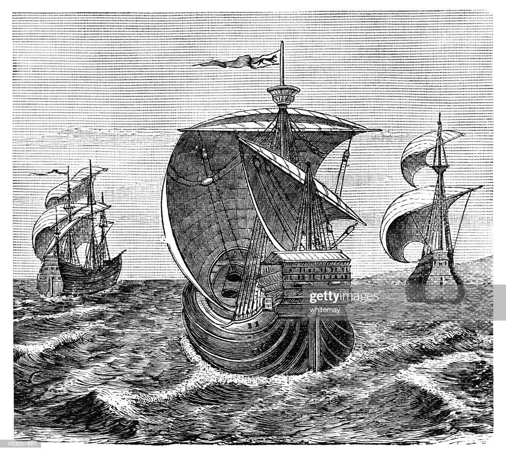 Nina Pinta And Santa Maria Christopher Columbus Ships High