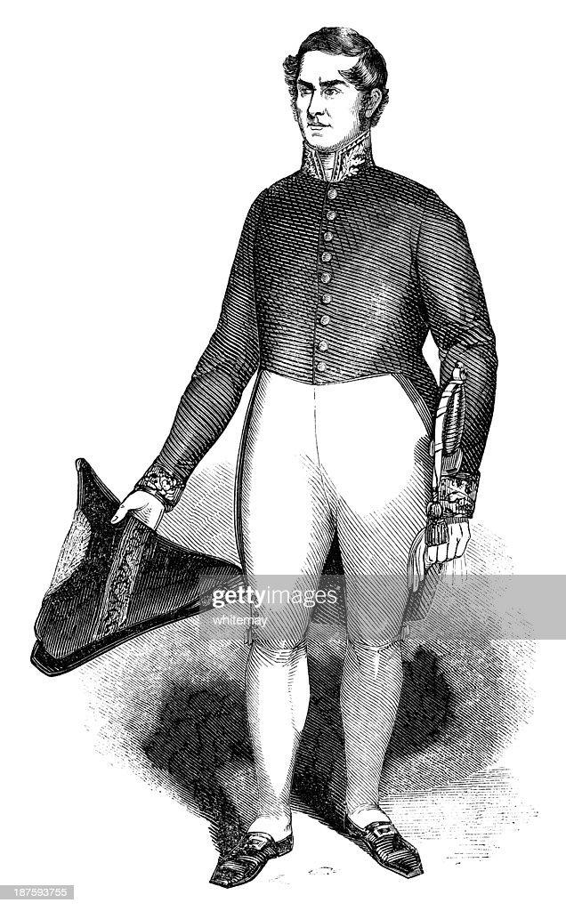 Consulado britânico do século XIX, de uniforme : Ilustração