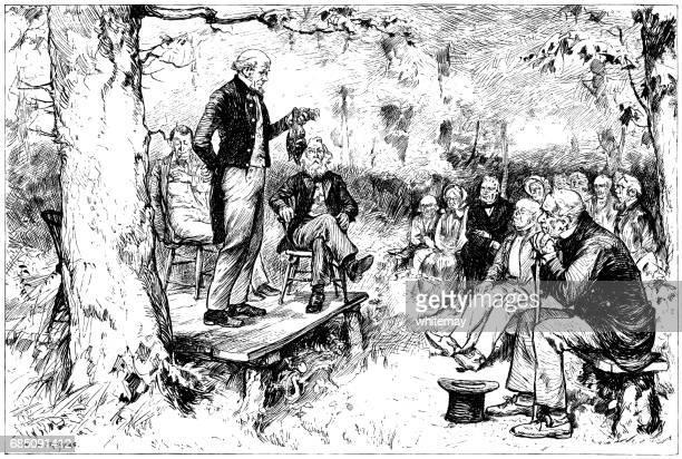 Nineteenth century outdoor meeting