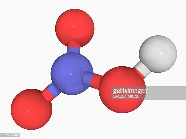 nitric acid molecule - acid stock illustrations