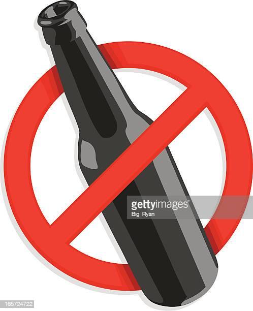 ilustrações, clipart, desenhos animados e ícones de placa de sem álcool - proibido