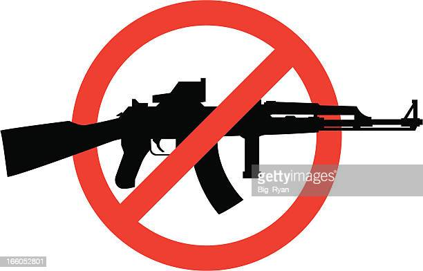 no assault rifles - gun control stock illustrations