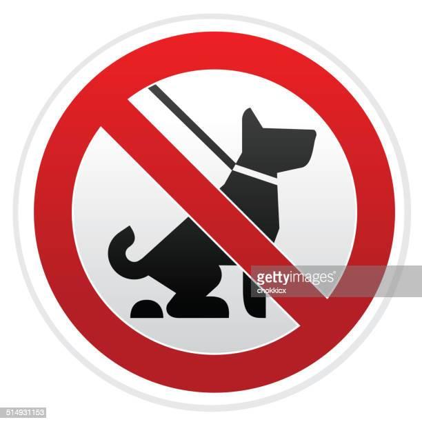 illustrazioni stock, clip art, cartoni animati e icone di tendenza di nessun cane pooping segnale di pericolo - cacca