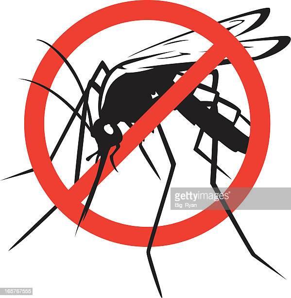 ilustraciones, imágenes clip art, dibujos animados e iconos de stock de no mosquitos - mosquito